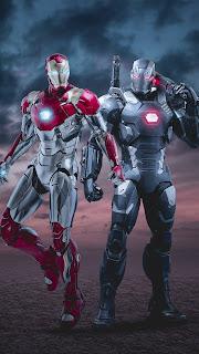 Iron Man & War Machine Mobile HD Wallpaper