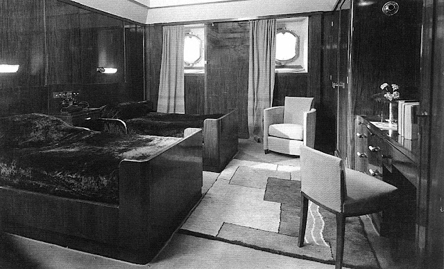 a 1932 SS Normandie room interior photograph