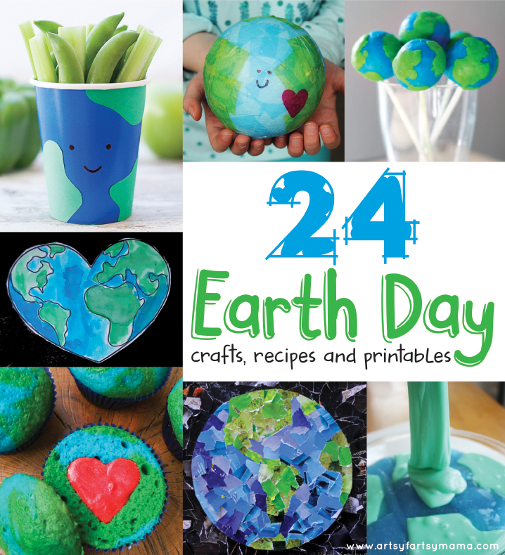 24 Earth Day Crafts, Recipes and Printables at artsyfartsymama.com