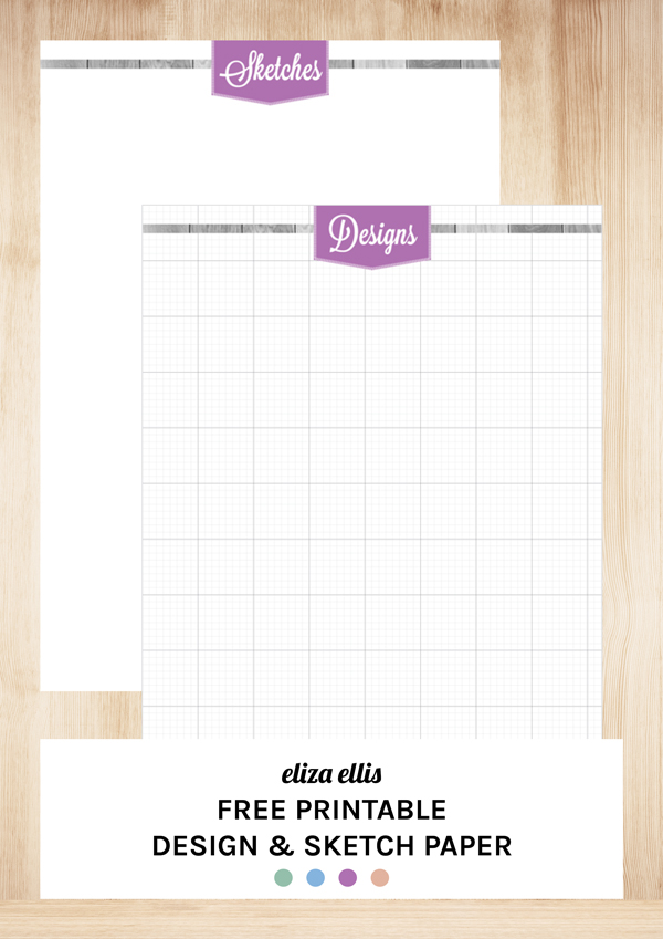Free Printable Sketch and Design Paper by Eliza Ellis for Sewing, Knitting, Crochet, Renovations, DIY Projects, Gardening etc.