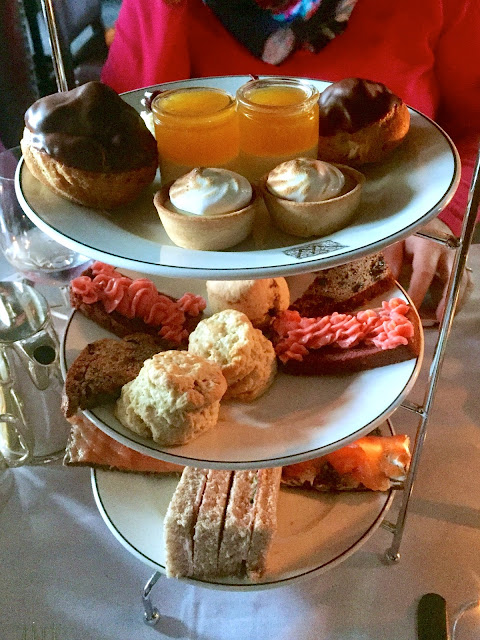 Afternoon tea platter at The Witchery by the Castle, Edinburgh