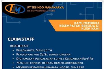 Lowongan Kerja Bandung Claim Staf PT Tri Indo Mahakarya