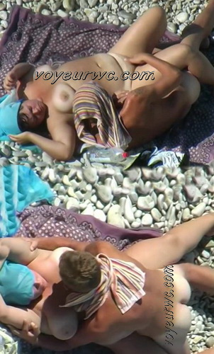 BeachHunters Sex 19875-19961 (Hot Nudist Couples spy cam at the beach)