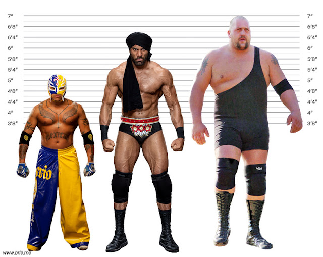 Jinder Mahal with Rey Mysterio and Big Show