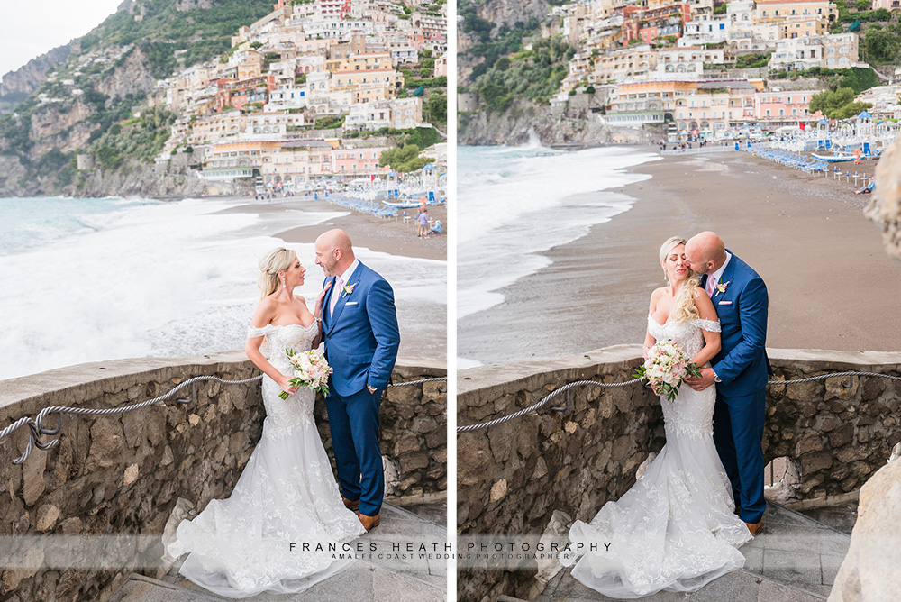 Wedding portrait on Positano beach