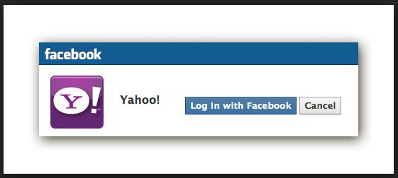 can i log into my yahoo account through facebook