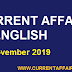 Today Important Current Affairs in English [ 04 November 2019 ] | Today's News Headlines
