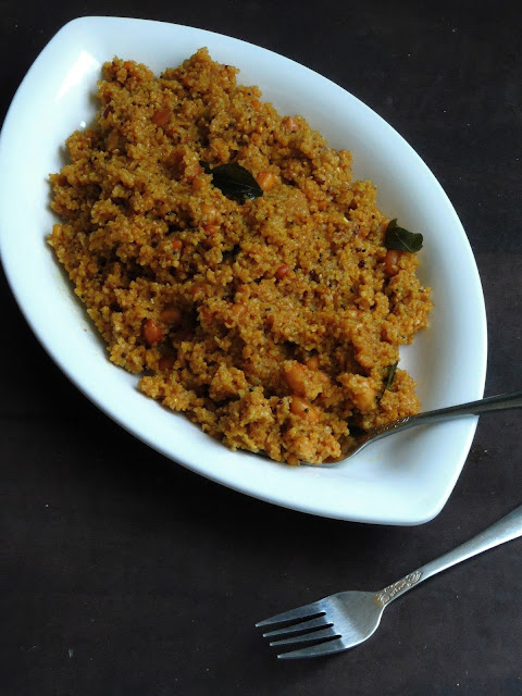 Broken wheat tamarind upma