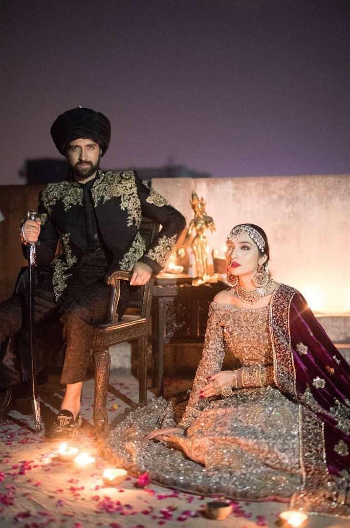 Enchantingly beautiful traditional bridal wear Gulzar Manzil by Mohsin Naveed Ranjha