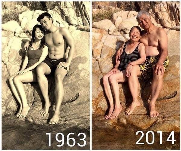 foto unik keluarga yang tidak berubah momennya setelah puluhan tahun-1