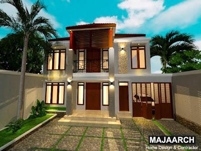 Desain-rumah-tinggal-dua-lantai-nan-asri