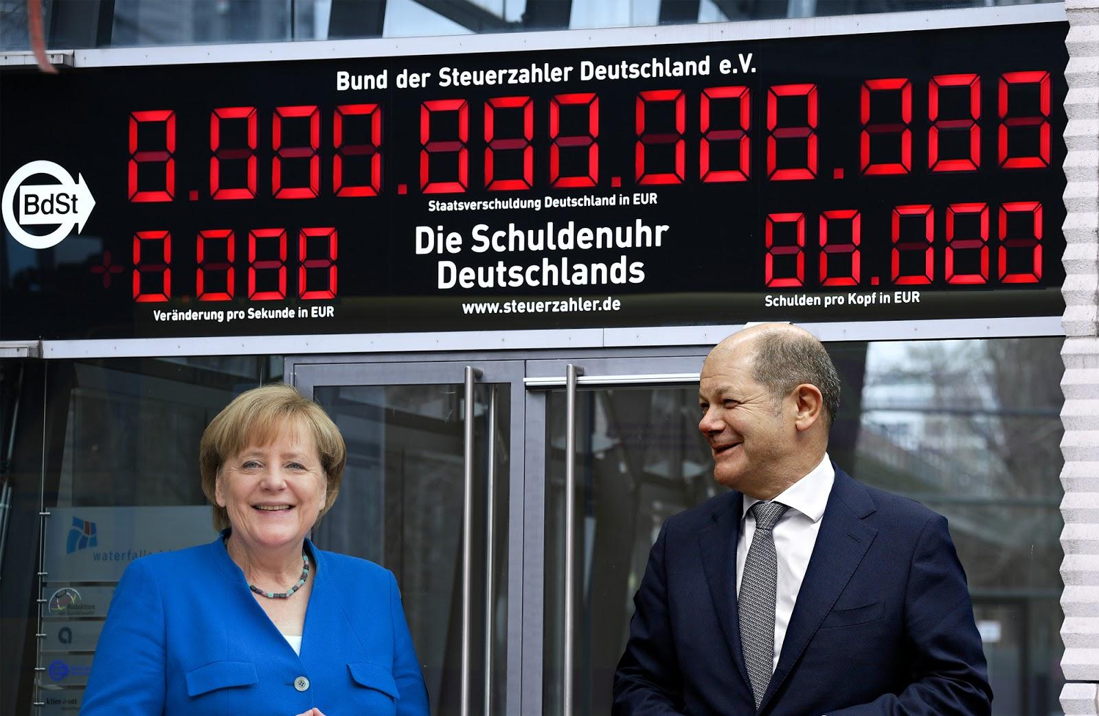 Große Freude nach Stromausfall: Deutsche Schuldenuhr stellt sich auf Null zurück [Video]