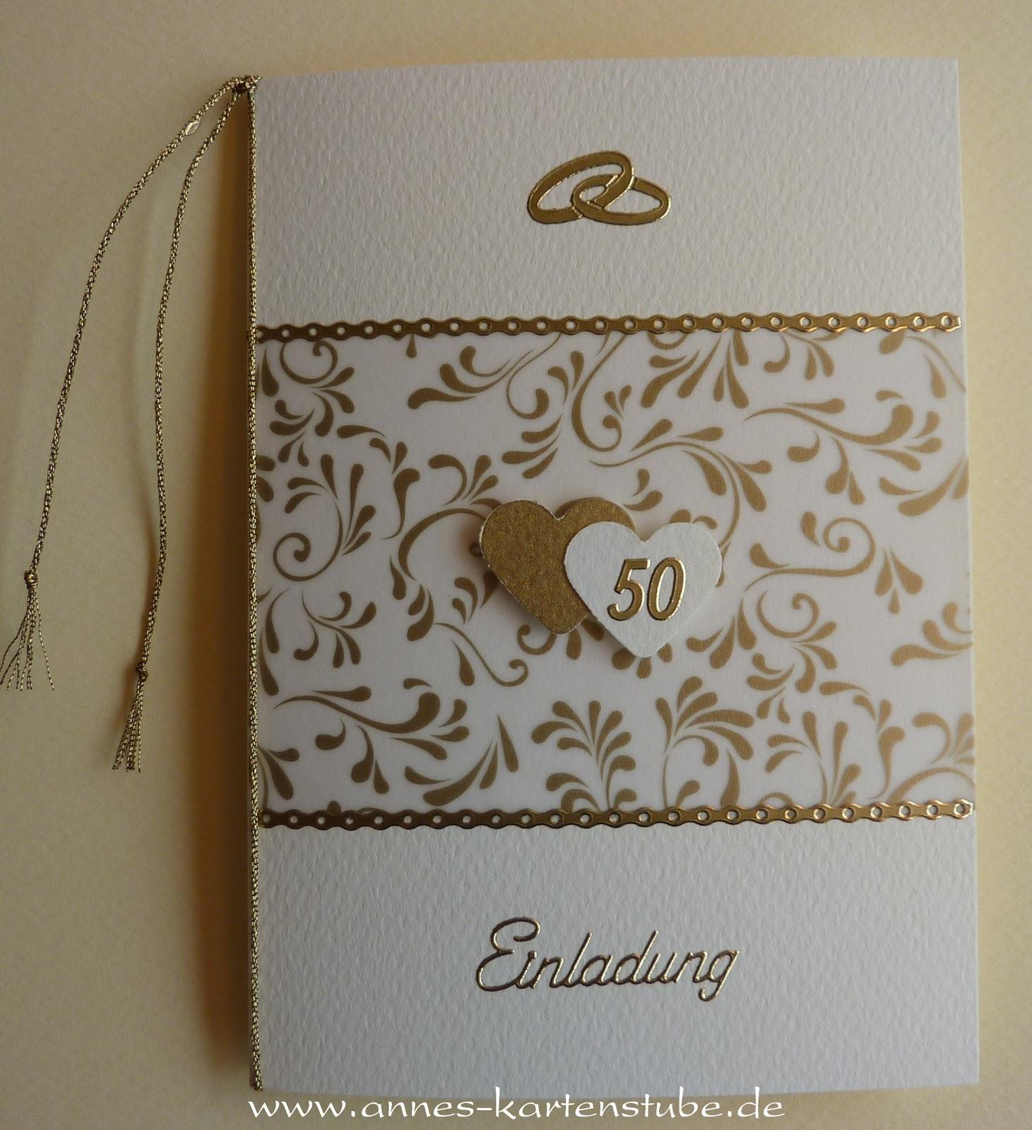 Hochzeit Blog Einladungen Goldene Hochzeit