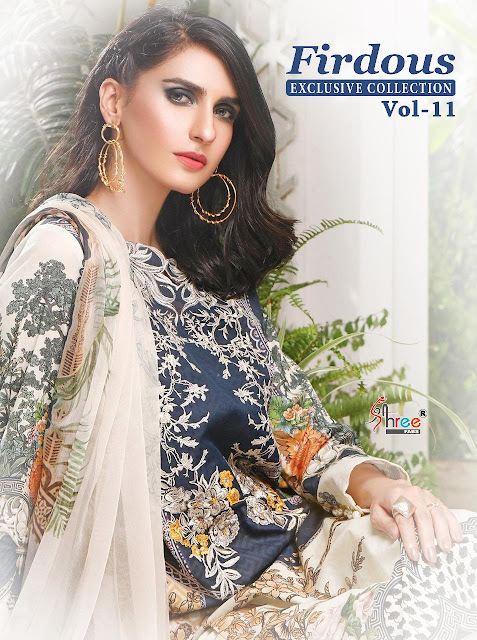 Shree Fab Firdous vol 11 Pakistani Suits catalog wholesaler