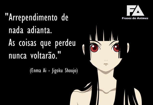 Arrependimento Frases De Animes