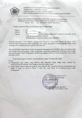 Surat Keterangan Bebas Pajak Impor Barang Untuk PPH Impor