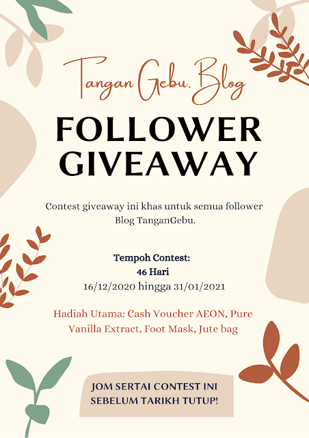 Giveaway by Blog Tangan Gebu