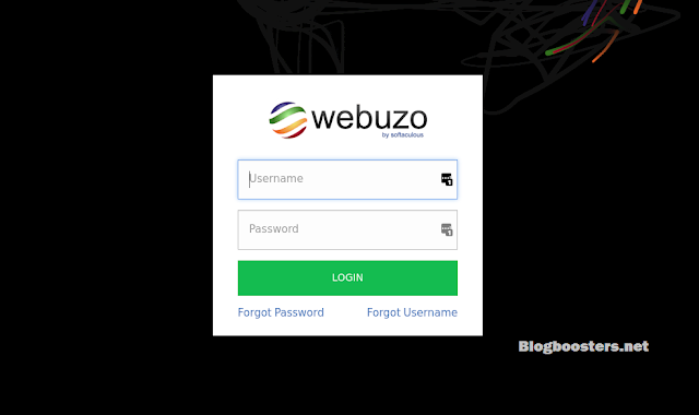 how to Webuzo Login