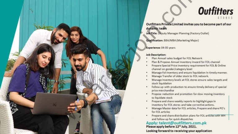 Talent@outfitters.com.pk - Outfitter Stores Jobs 2021 in Pakistan