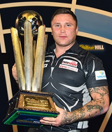 Gerwyn Price, defeats, Gary Anderson, final scores, won title, William Hill, World Darts, Championship, 2021.