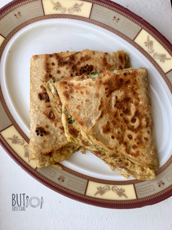Chapathi Omelette | An Easy Egg Paratha