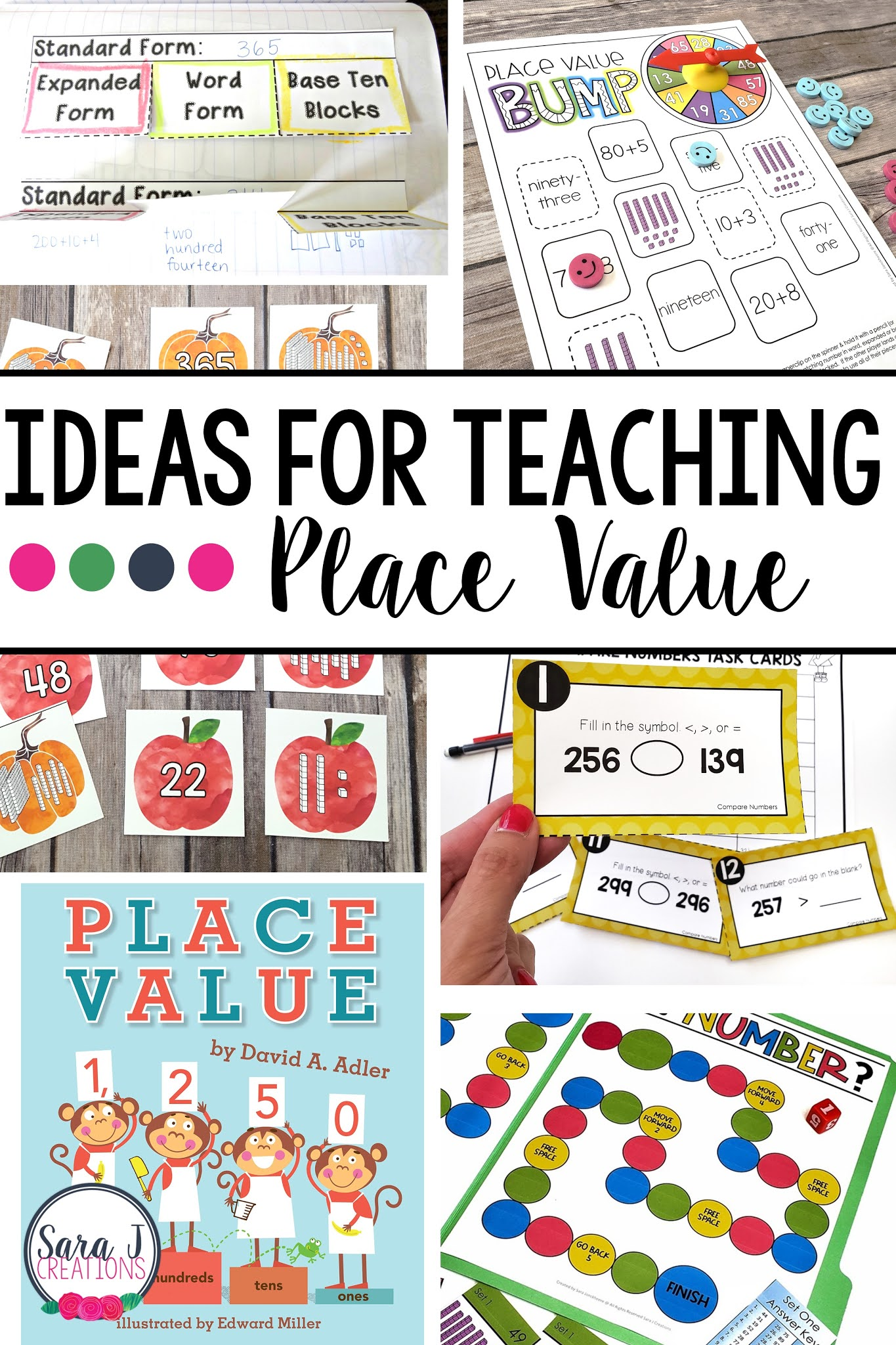 A round up of games, videos, books, manipulatives and freebies to help teach place value.