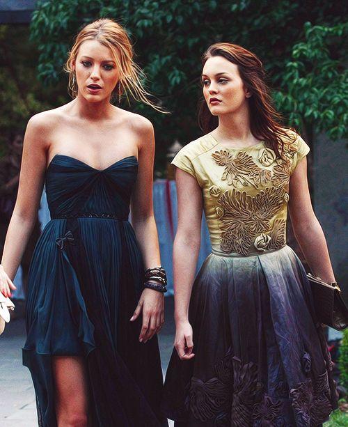 Serena e Blair vestidos de festa
