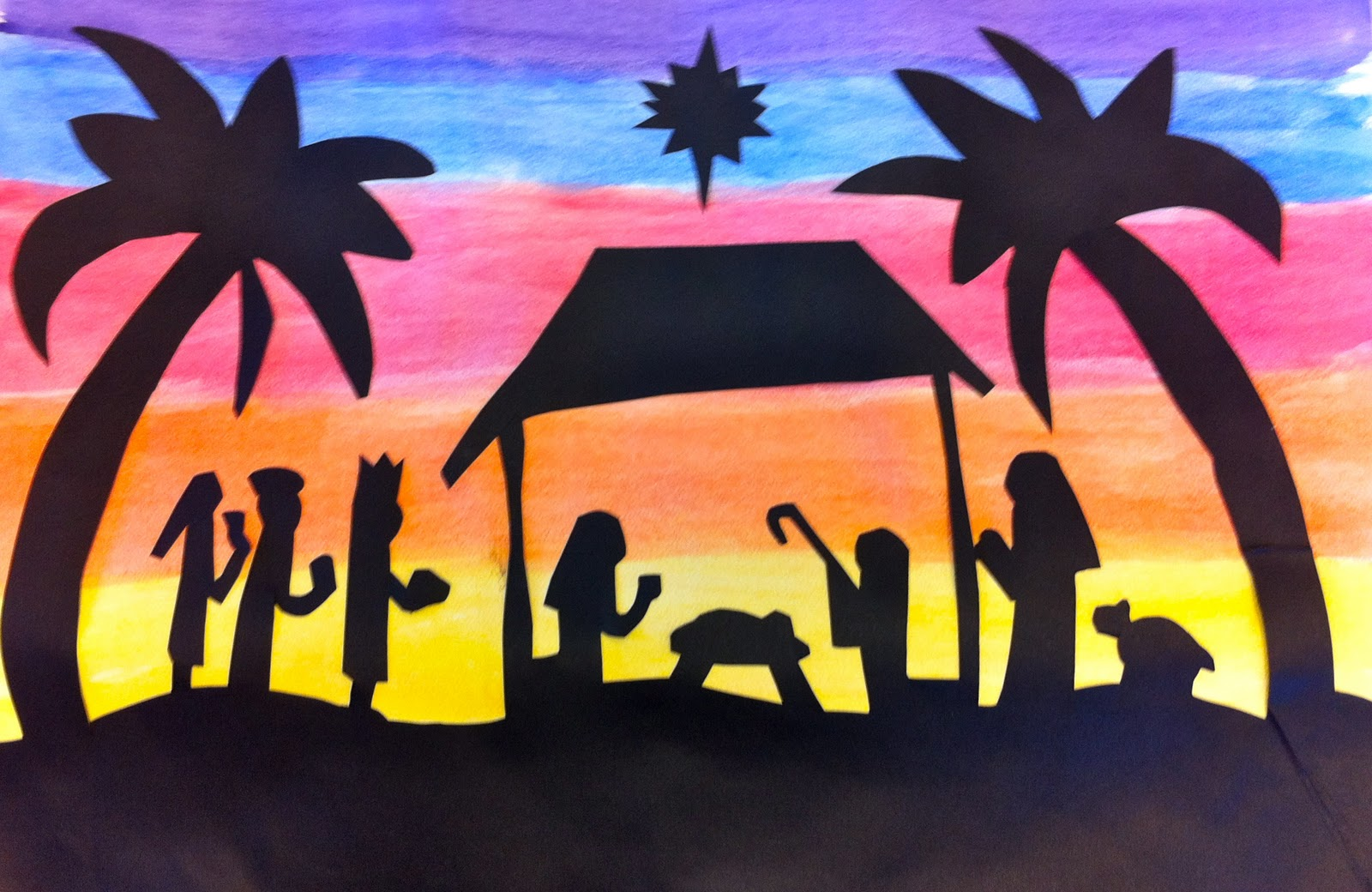 Expression Of Imagination Sunset Nativity By Sixth Grade