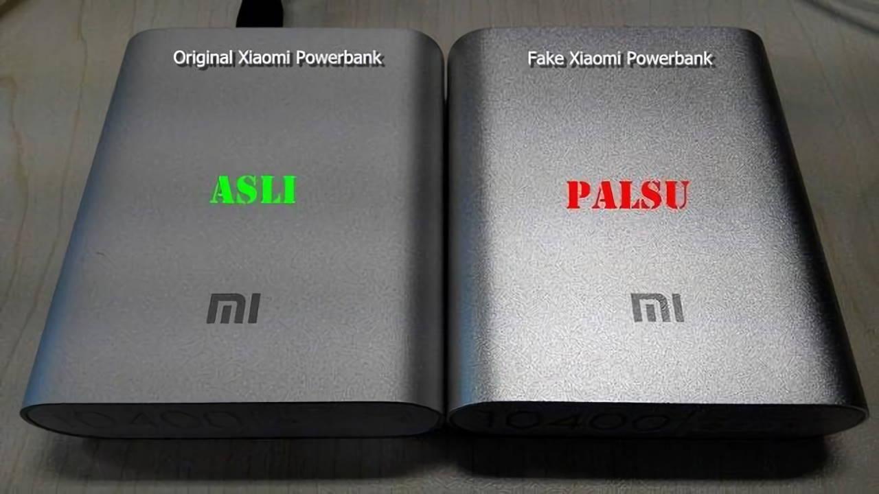 Perbedaan Powerbank Xiaomi Asli Dan Palsu