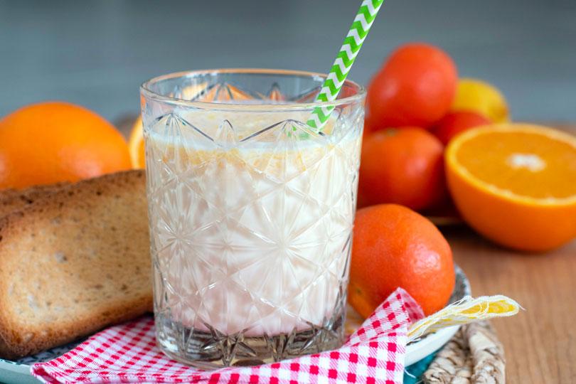 recette Boisson lactée à l'orange