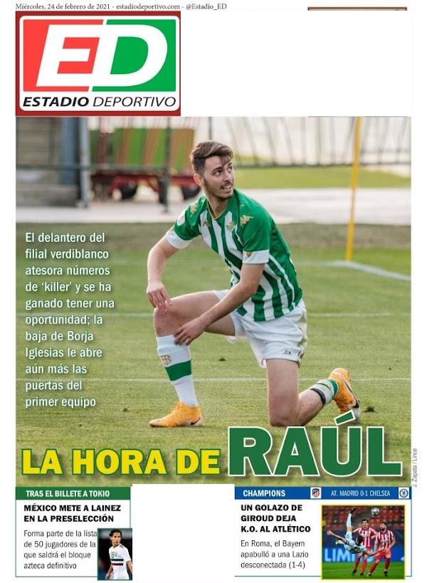 "Betis, Estadio Deportivo: ""La hora de Raúl"""