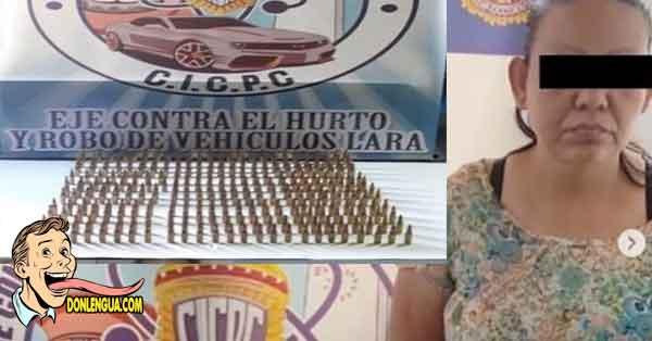 Señora detenida por portar 300 balas en Barquisimeto