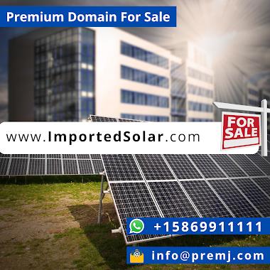 ImportedSolar.com Premium Domain For Sale
