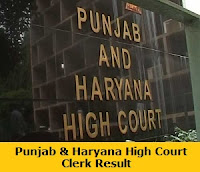 Punjab & Haryana High Court Clerk Result