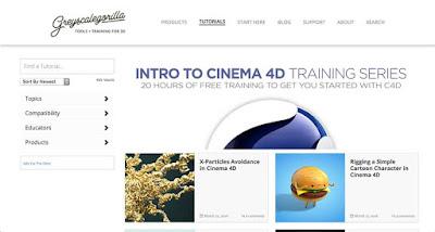 Belajar Cinema 4D Gratis di Grayscalegorilla