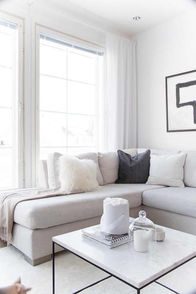 villa h, moderni olohuone, klassinen sisustus