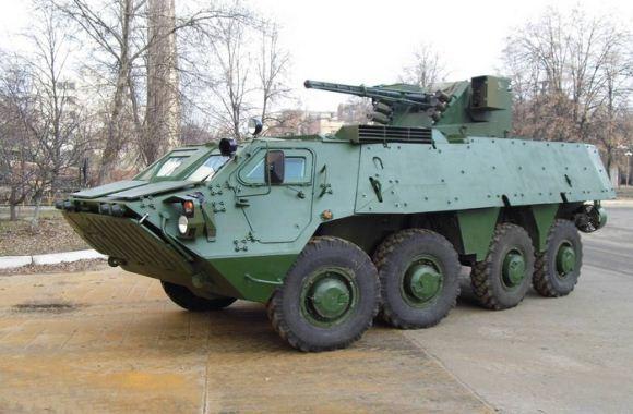 BTR-4 dengan kit perlindungan tambahan