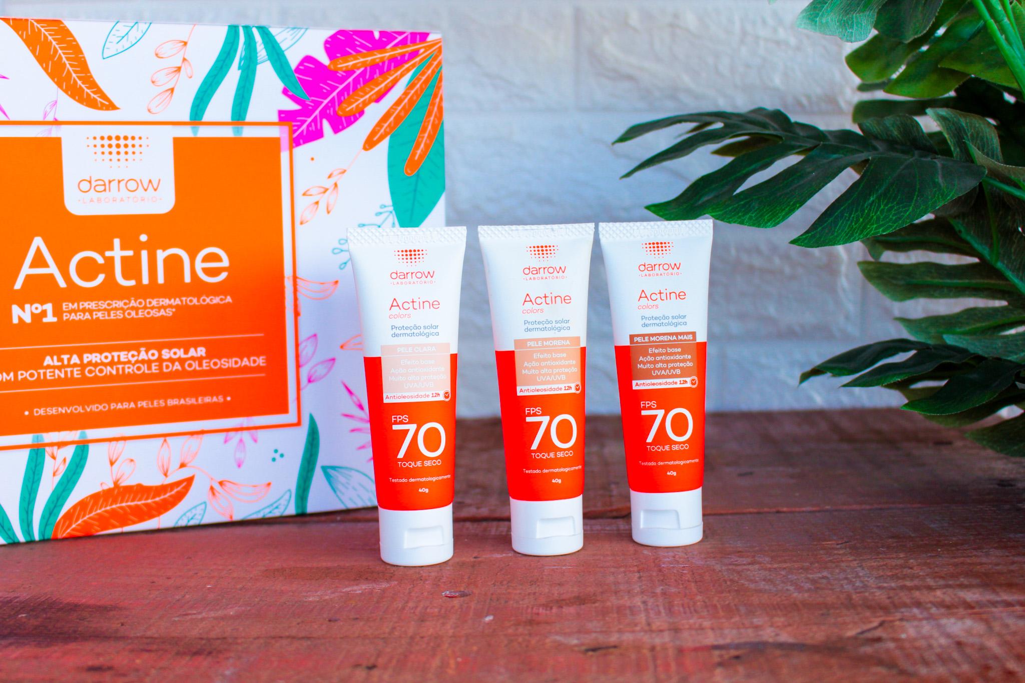 Protetor Solar Facial Actine Colors FPS70 Darrow