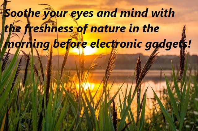 soothe youself with nature