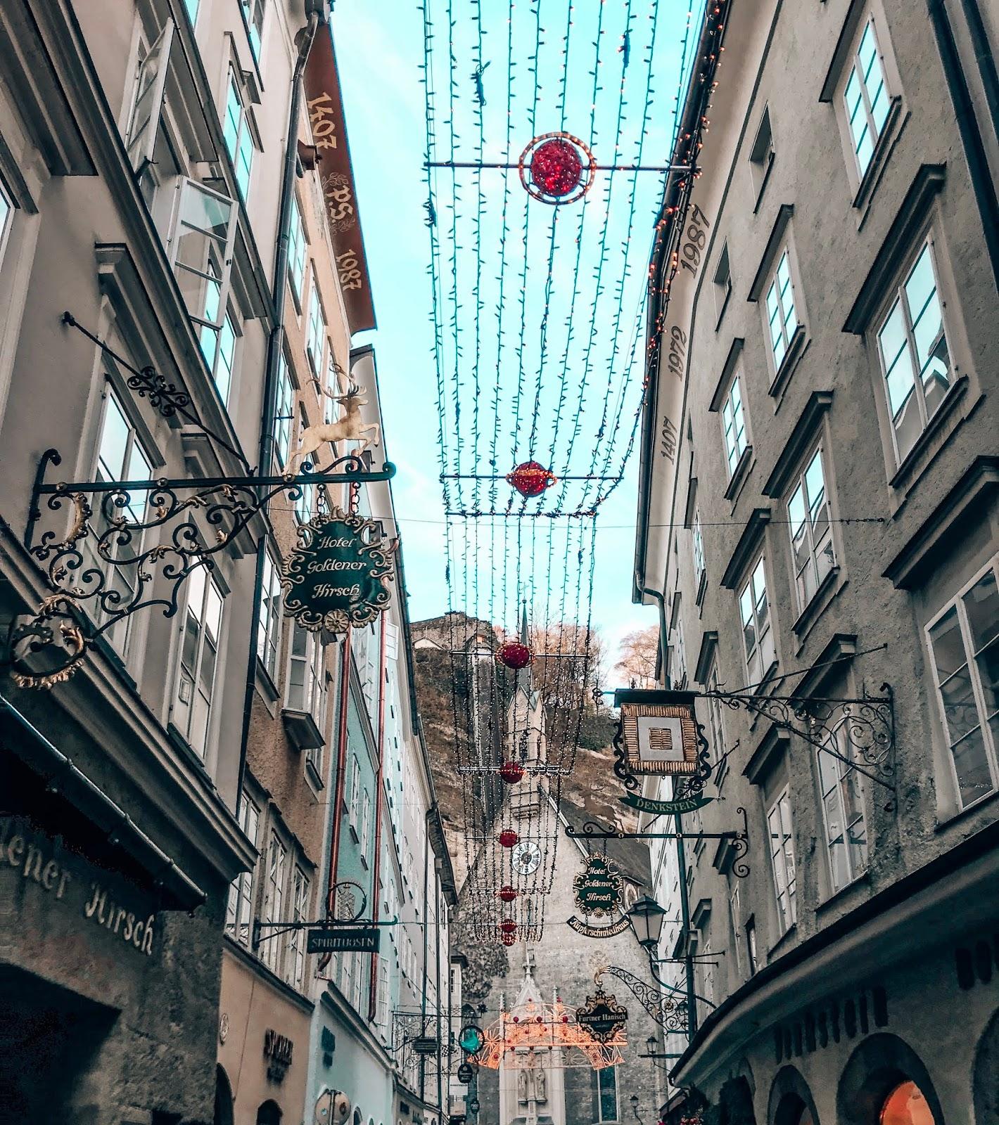 Salzburg ulica Getreidegasse