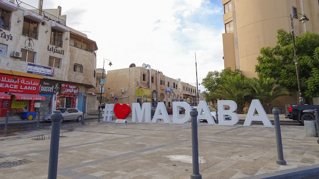 Many Ancient palaces and churches in and around Madaba