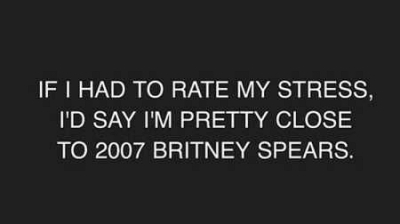 Britney Spears stress 2007