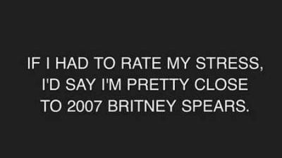 Britney Spears stress 2007