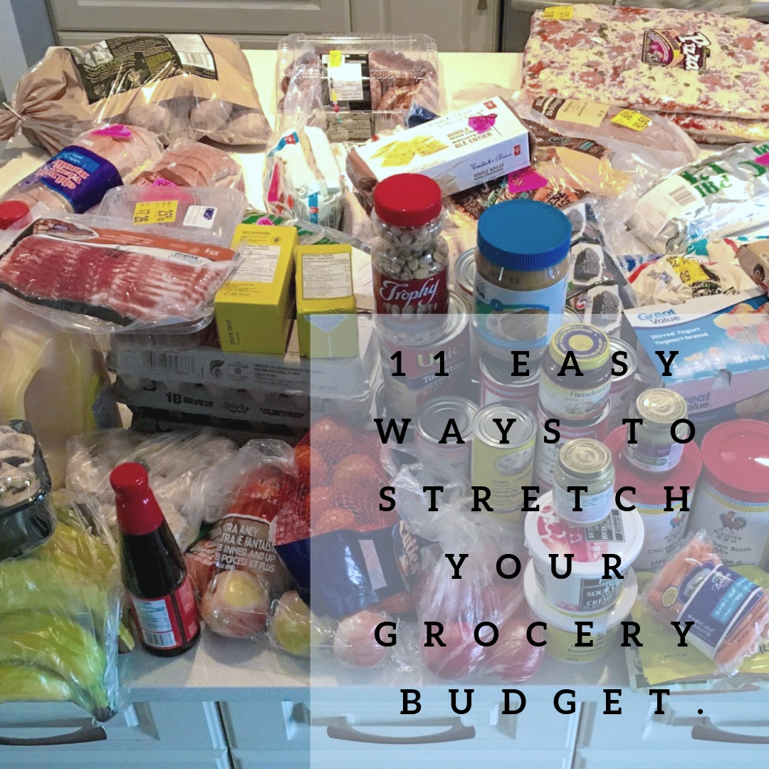 Grocery shopping on budget.