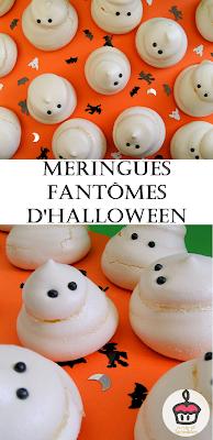 Easy ghost meringues for Halloween || Meringues faciles pour Halloween