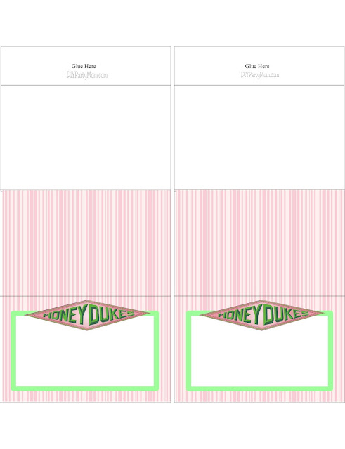 Free Printable Honeydukes Table Cards for your Harry Potter Party