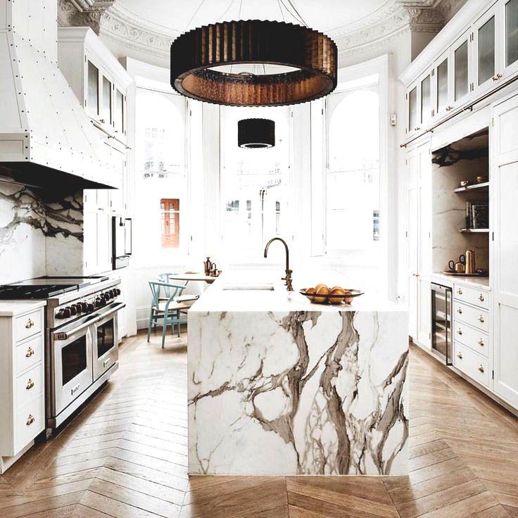 marble kitchen island modern
