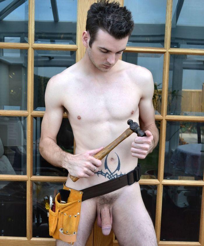 Nude gay carpenter