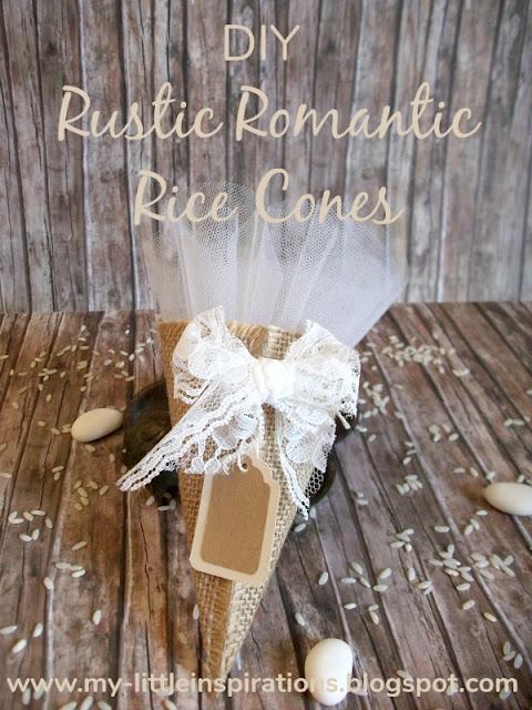 DIY Coni Portariso per Matrimonio in stile Rustico Romantico - titolo - MLI
