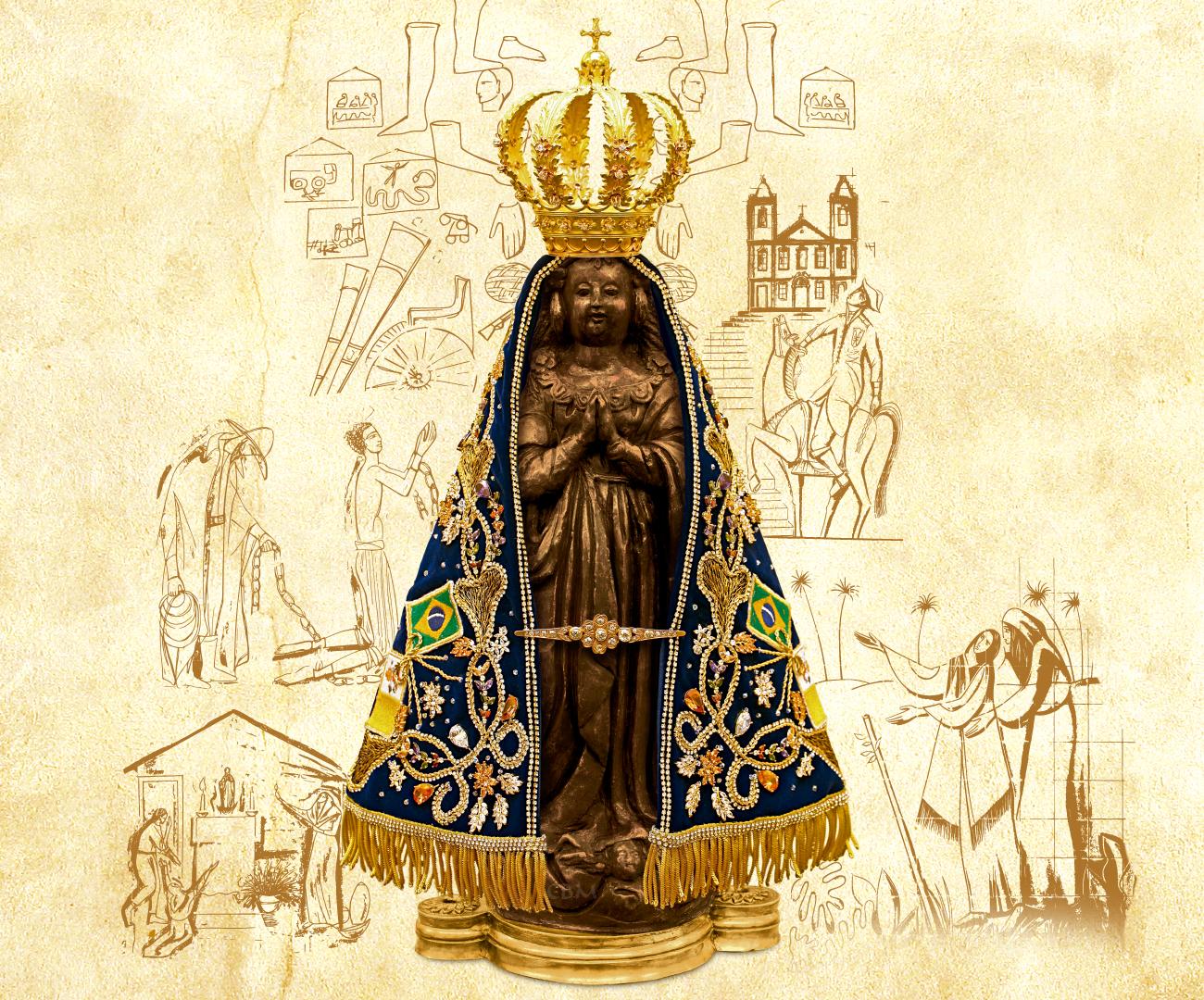 Papel De Parede Nossa Senhora Aparecida: VIRGEM MÃE APARECIDA: Imagem Original De Nossa Senhora